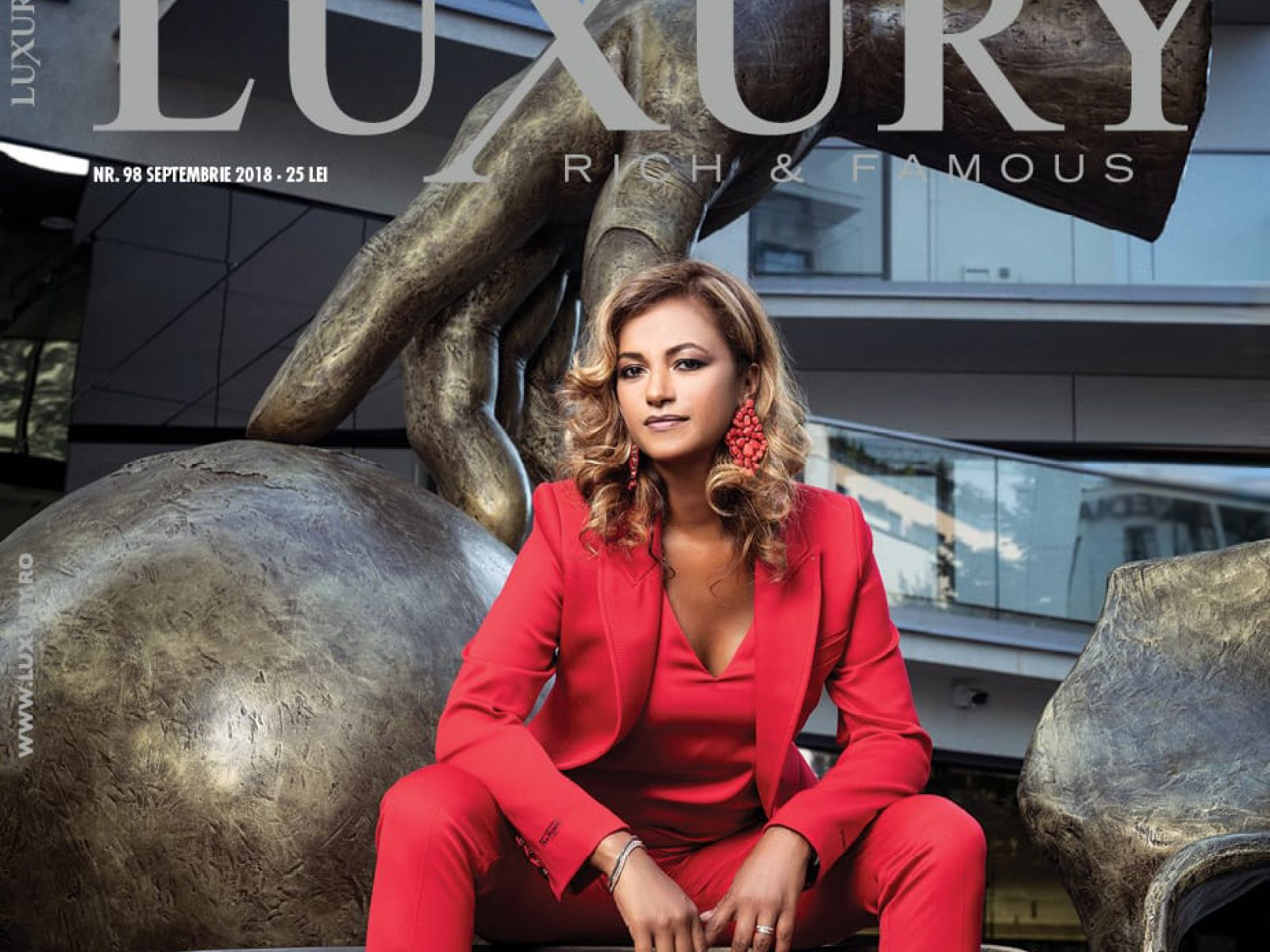Beatrice Dumitrașcu, on the cover of Luxury Magazine