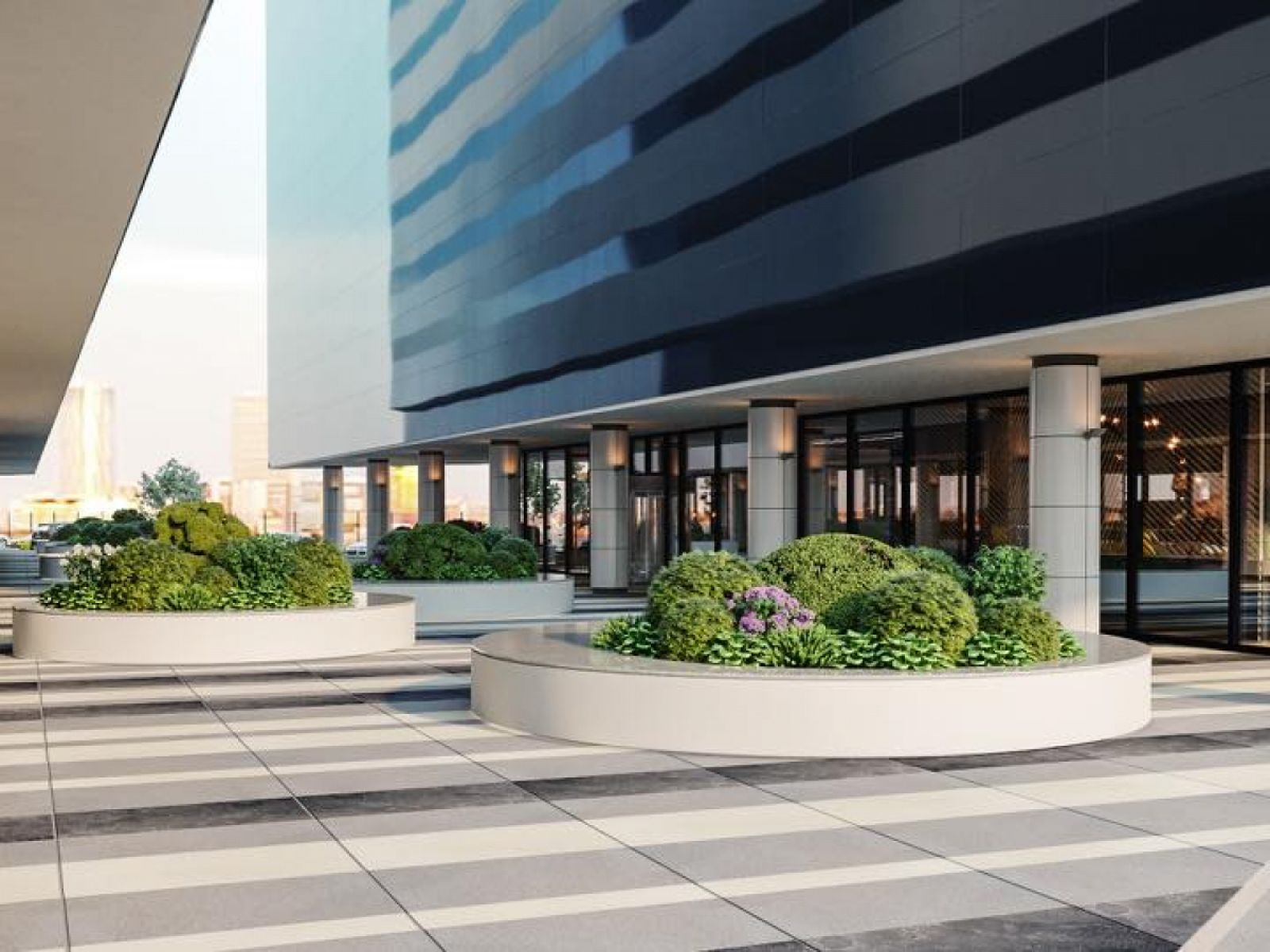 1 million EUR investment in a refurbishment process and a new design concept for One North Gate