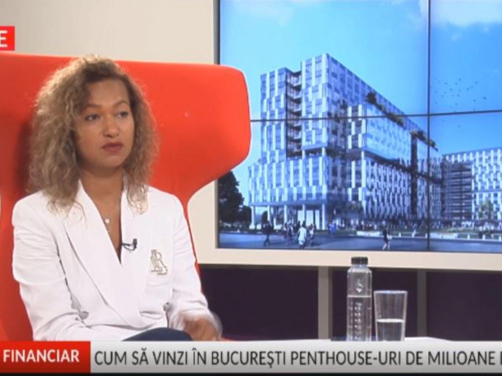 Beatrice Dumitrașcu, VP Residential Sales One United Properties live at Adevărul Financiar