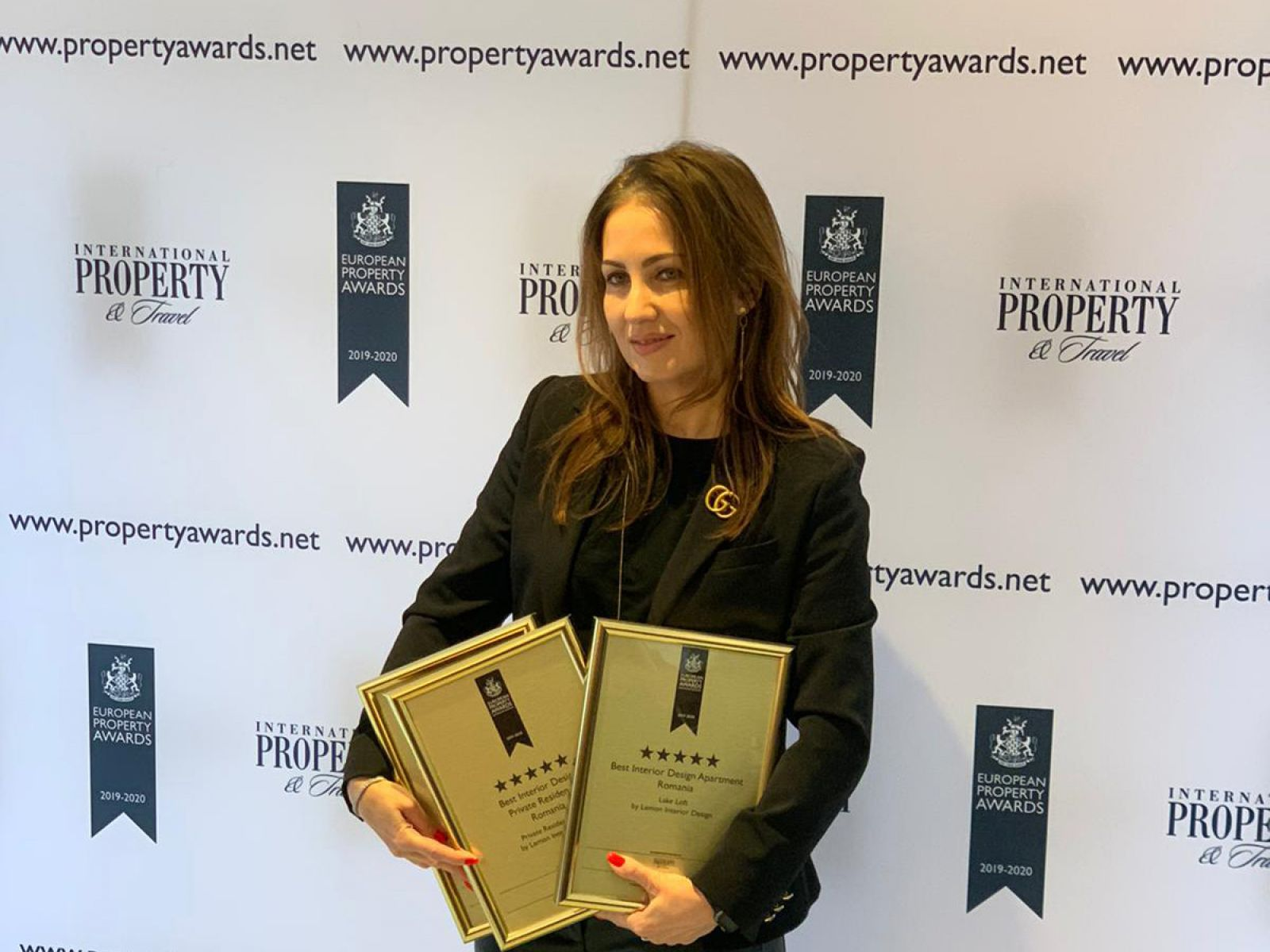 Lemon Interior Design has won 3 awards at the International Property Awards, 2 of them with a 5-star level