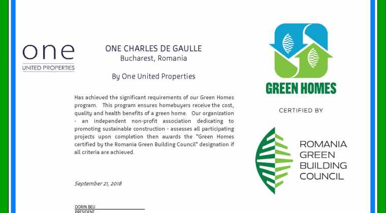 """""""Green Homes"""" certification"""
