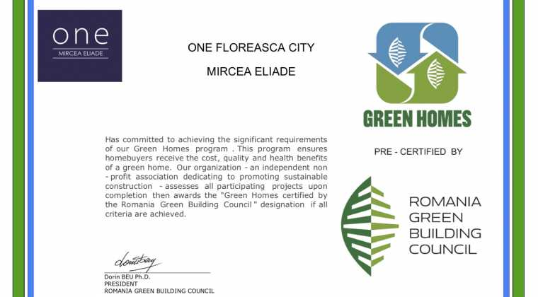 """""""Green Homes"""" pre-certification"""