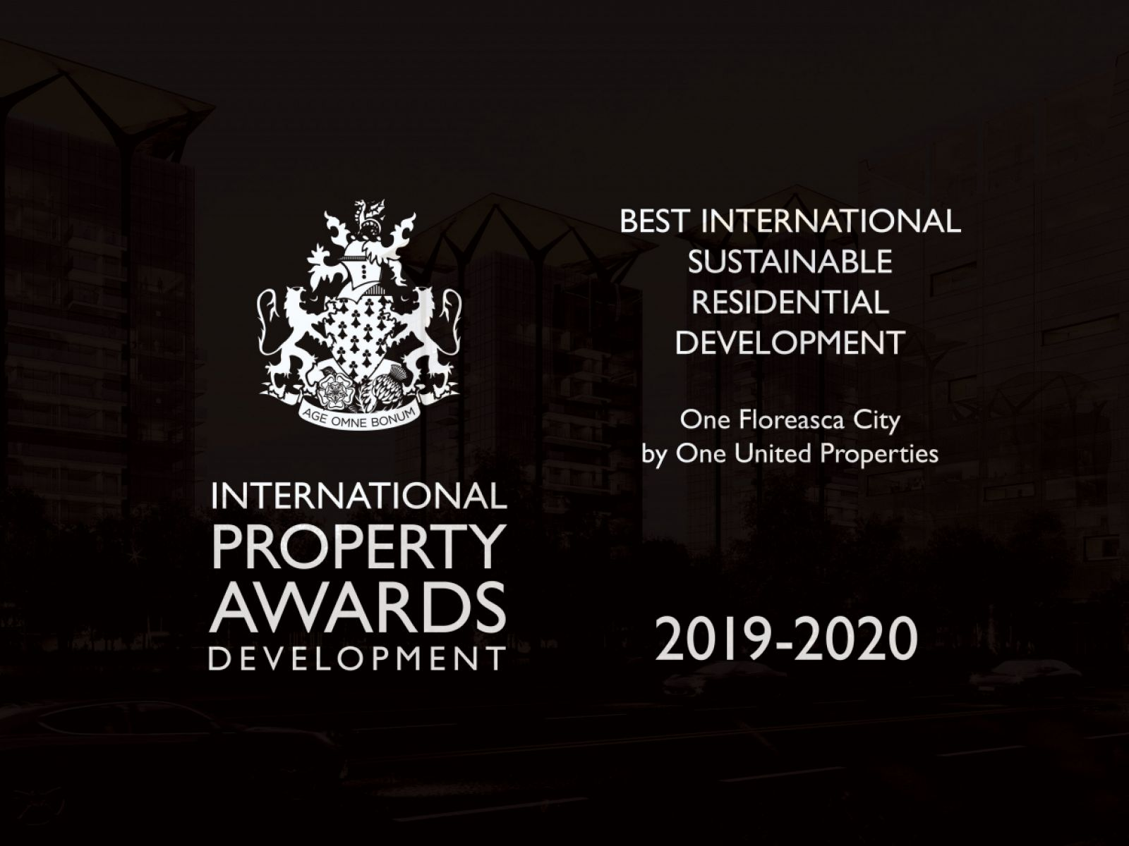 Premiere in Romania: One United Properties receives the Best International Award in Sustainable Residential Development