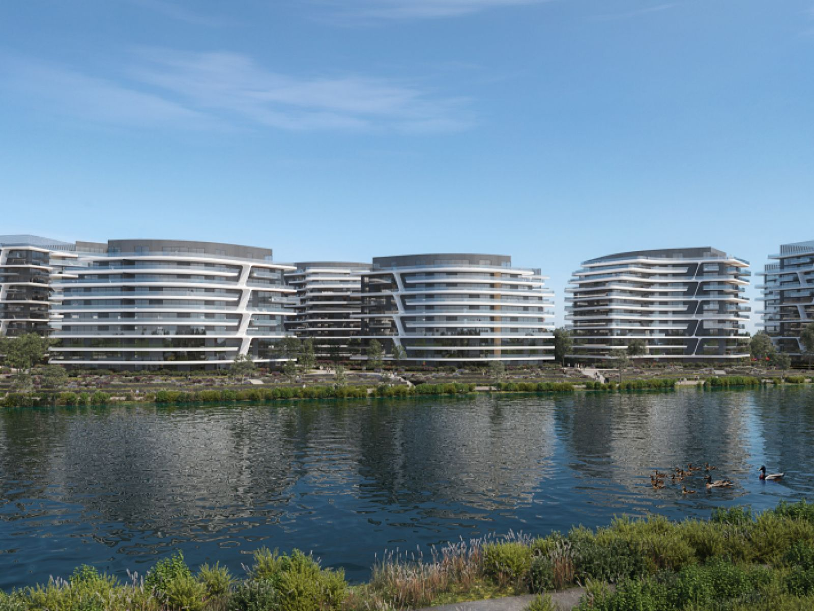 One Lake District: how the 2,000 apartments on the shore of Lake Plumbuita project will look like