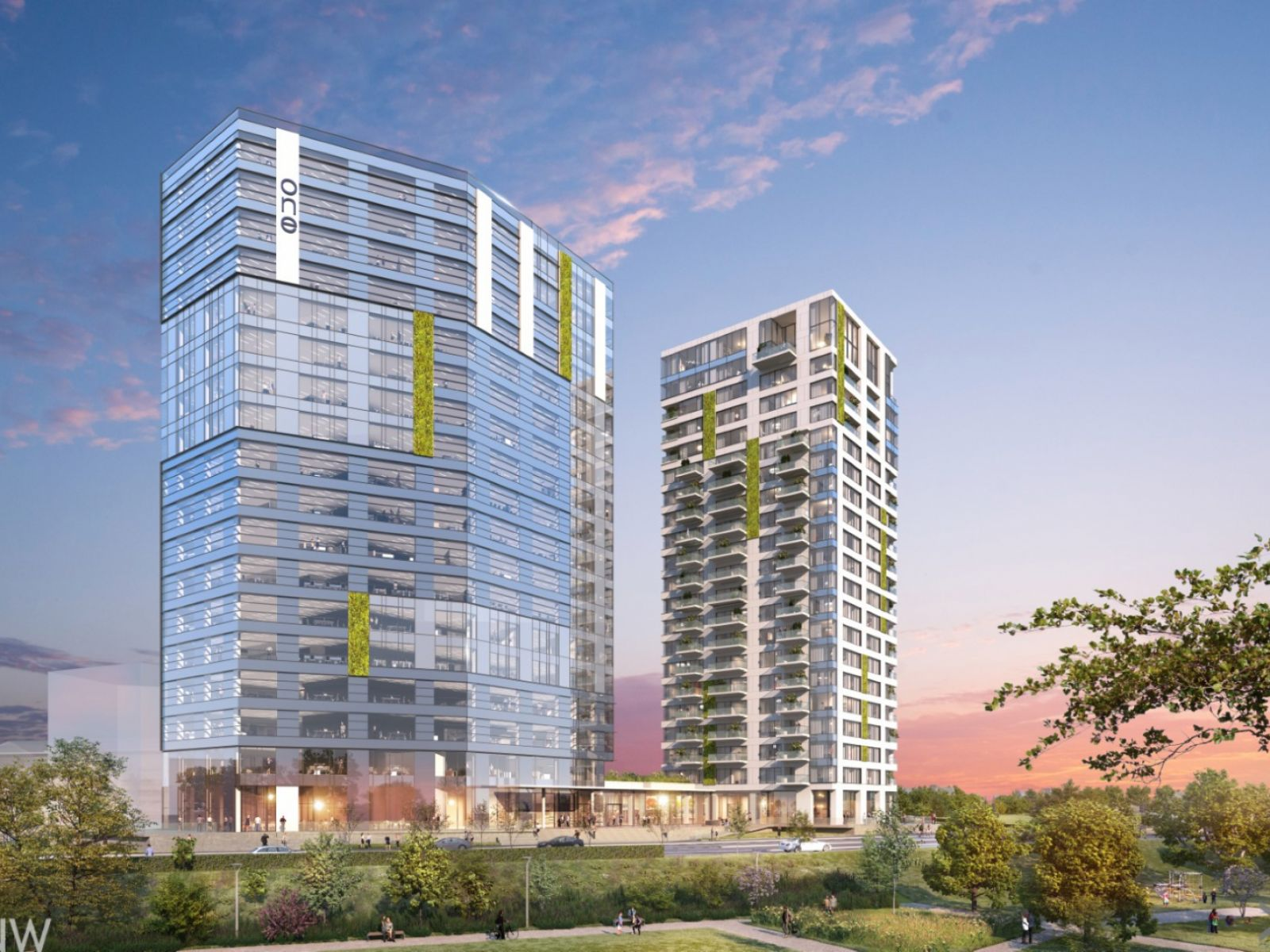 The multifunctional project One Verdi Park developed by One United Properties reaches ground zero and will be completed in 2021