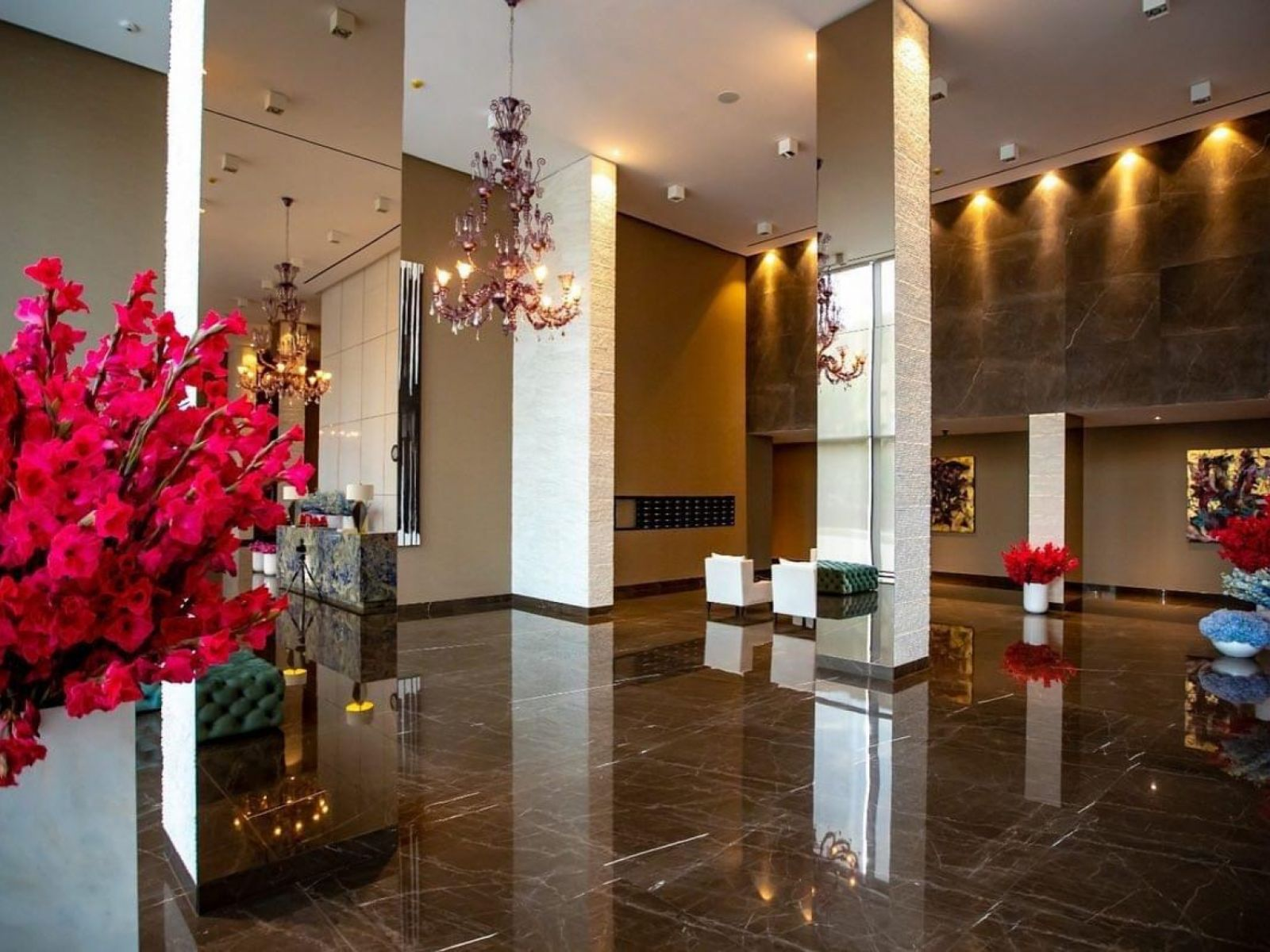 State of the art lobby and outstanding residential design at One Rahmaninov
