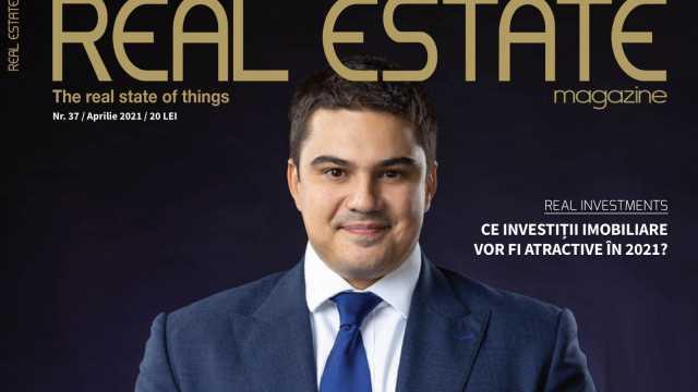 Mihai Păduroiu on the cover of Real Estate Magazine