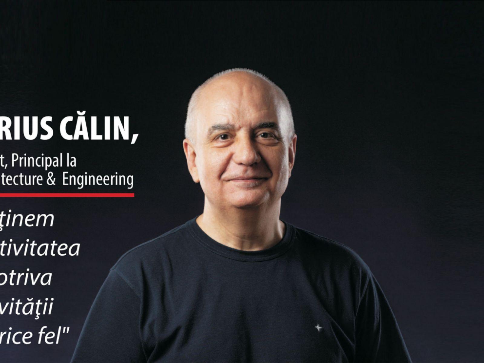 Marius Călin from X Architecture & Engineering on the cover of Bursa magazine