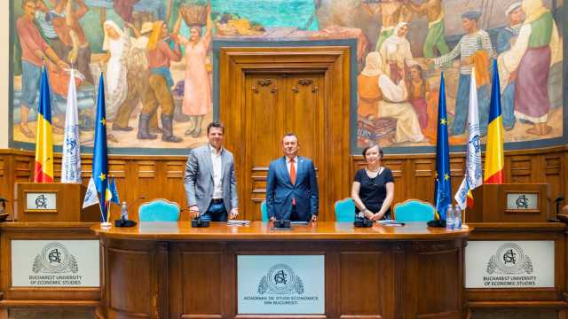 One United Properties supports the restoration of the fresco in the Aula Magna of the Academy of Economic Studies