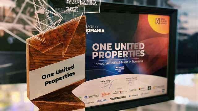 One United Properties was awarded at Made in Romania gala by Bucharest Stock Exchange (BVB).