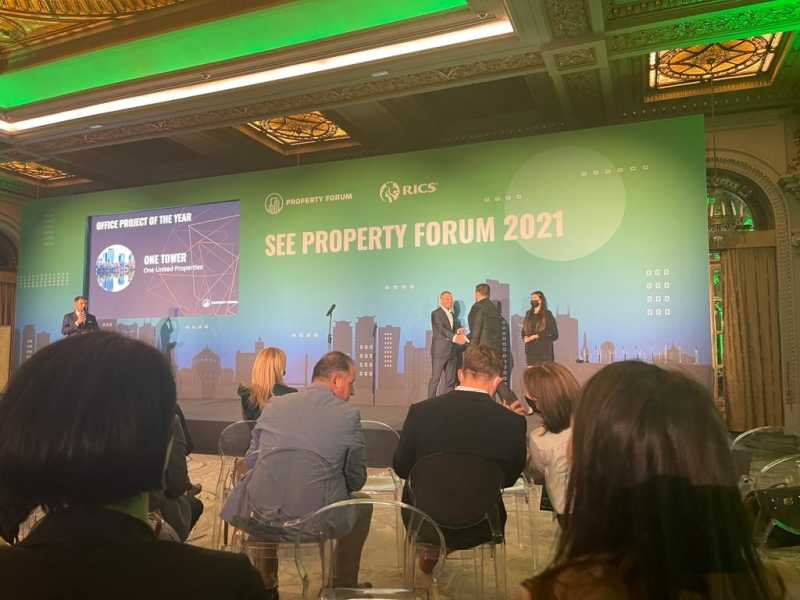 One Tower premiat cu Office Project of the Year în cadrul SEE Property Forum Awards 2021